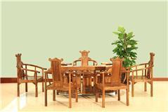 非洲檀香 鸟巢茶台6件套
