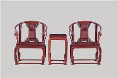 小叶紫檀   皇宫椅3件套