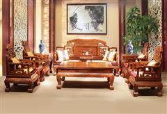 刺猬紫檀  大象宝座沙发11件套