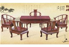 黑酸枝/非洲红酸枝  如意茶台6件套