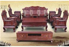 黑酸枝/非洲红酸枝 鸿运沙发11件套
