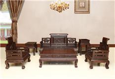 黑紫檀  宫廷沙发  5件套